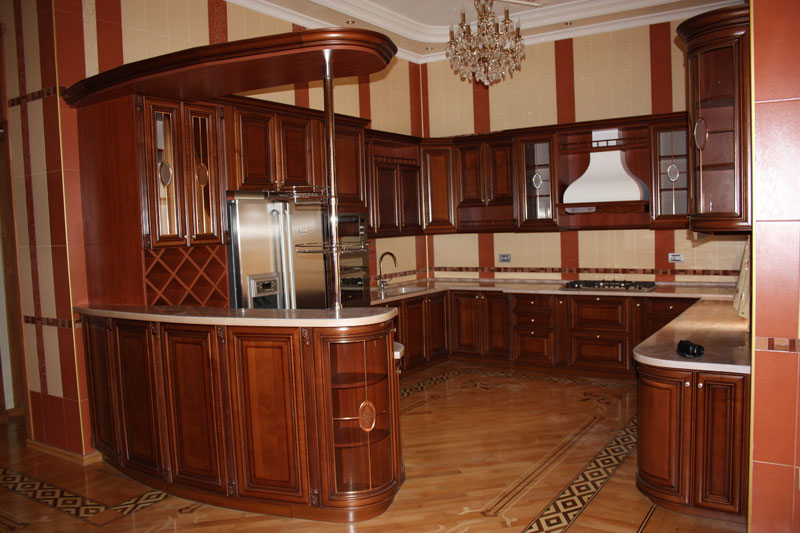 Сколько стоит кухня из дерева